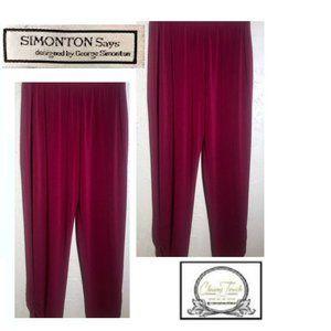 Simonton Says New Burgundy Stretch Pants Size S